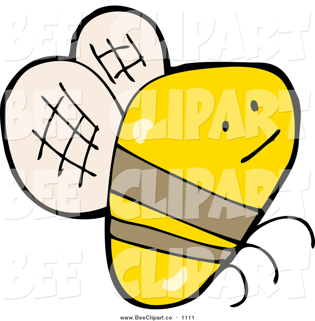 cartoon vector clip art of a flying bee by lineartestpilot 1111