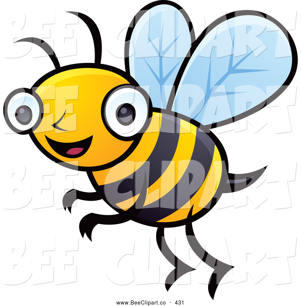 Royalty Free Cartoon Stock Bee Designs