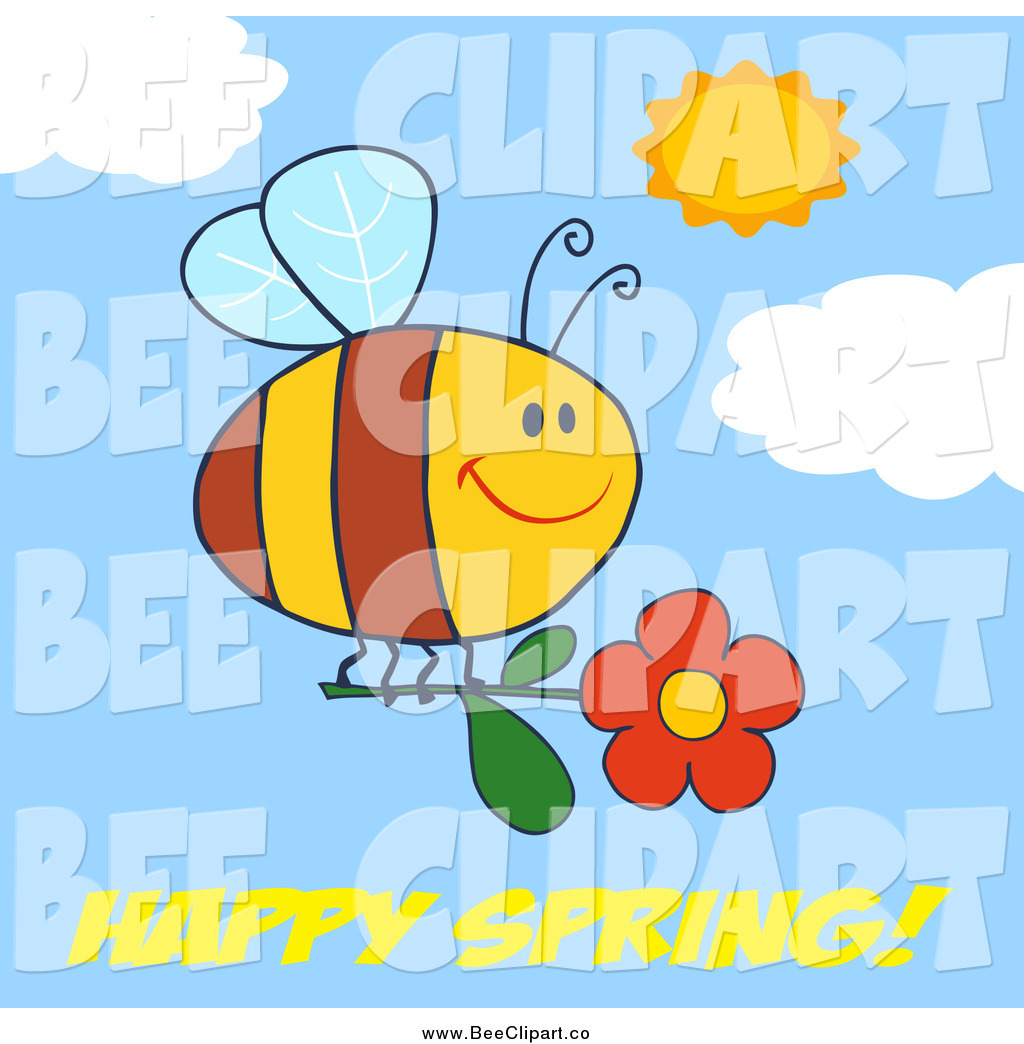 royalty free stock bee designs of flowers