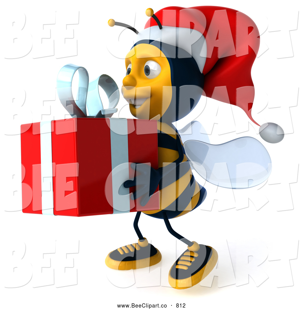 royalty free stock bee designs of christmas gifts