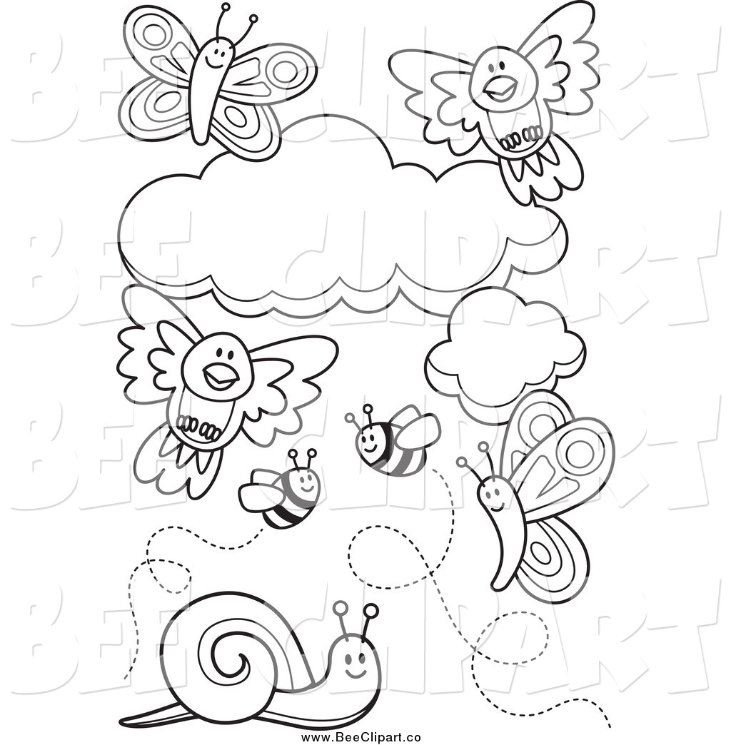 Royalty Free Coloring Pages to Print Stock Bee Designs