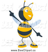 Cartoon Clip Art of a Bee Dancing by Julos