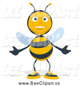 Cartoon Clip Art of a Bee Welcoming by Julos