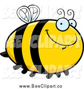 Cartoon Vector Clip Art of a Chubby Bee by Cory Thoman