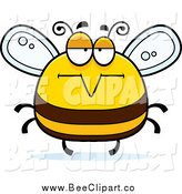 Cartoon Vector Clip Art of a Chubby Bored Bee by Cory Thoman