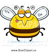 Cartoon Vector Clip Art of a Chubby Drunk Bee by Cory Thoman