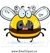 Cartoon Vector Clip Art of a Chubby Scared Bee by Cory Thoman