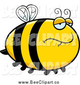 January 1st, 2014: Cartoon Vector Clip Art of a Depressed Bee by Cory Thoman