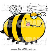 Cartoon Vector Clip Art of a Drunk Bee by Cory Thoman