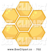 Cartoon Vector Clip Art of a Honey Combs in a Hive on White by Hit Toon