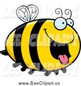 Cartoon Vector Clip Art of a Hungry Bee by Cory Thoman