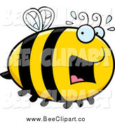 Cartoon Vector Clip Art of a Scared Bee by Cory Thoman