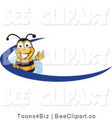Clip Art of a Bee Swoosh by Toons4Biz
