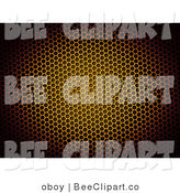 Clip Art of a Circular Light on a Yellow Honeycomb Background by Oboy