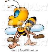 Clip Art of a Grumpy Bee by Dero