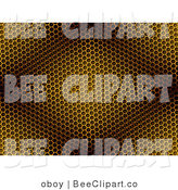 Clip Art of a Yellow and Brown Diamond Light on a Honeycomb Background by Oboy