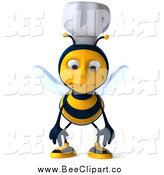 Vector Clip Art of a 3d Pouting Chef Bee by Julos