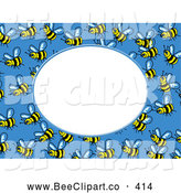 November 14th, 2013: Vector Clip Art of a Buzzing Bee Frame with White Space by Prawny