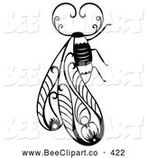 November 1st, 2013: Vector Clip Art of a Decorative Insect Bug Design by Cherie Reve