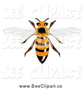 Vector Clip Art of a Hairy Bee by Vectorace