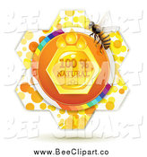 Vector Clip Art of a Natural Honey Comb and a Bee by Merlinul
