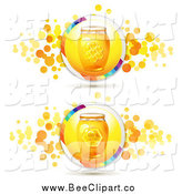Vector Clip Art of Honey Jars by Merlinul