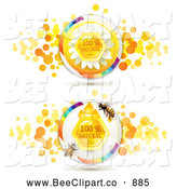 November 27th, 2013: Vector Clip Art of One Hundred Percent Natural Honey and Bee Designs by Merlinul
