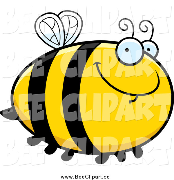 Cartoon Vector Clip Art of a Chubby Bee