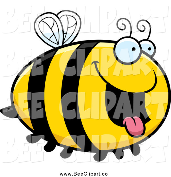 Cartoon Vector Clip Art of a Hungry Bee