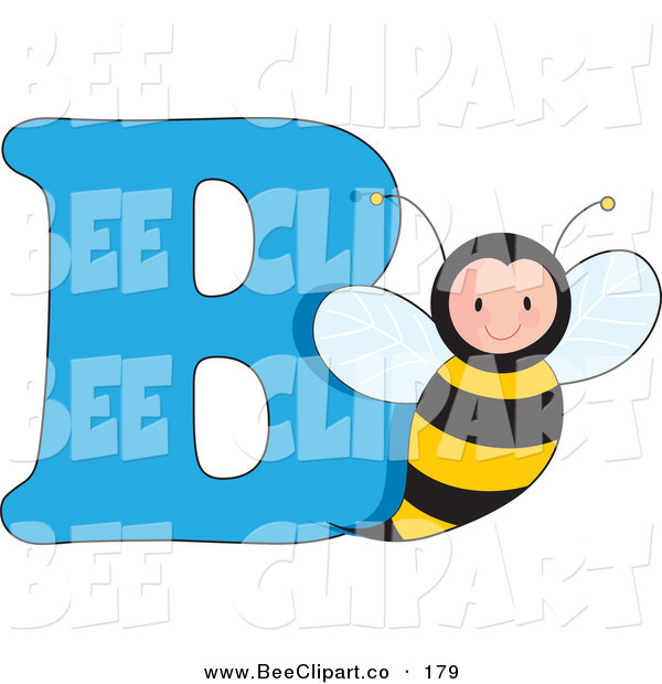 Vector Clip Art of a B Is for Bumblebee Learn the Alphabet Scene