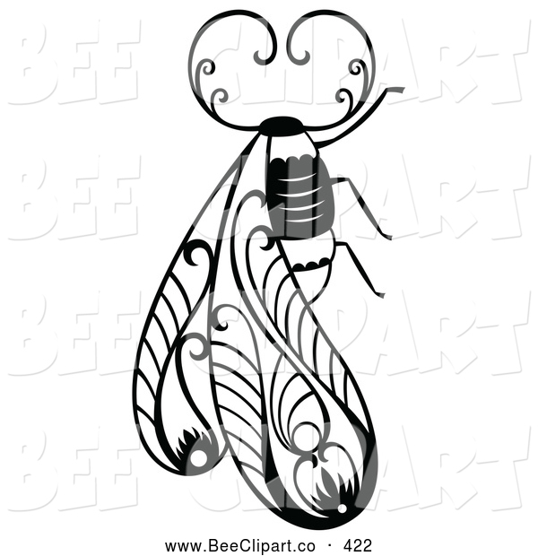 Vector Clip Art of a Decorative Insect Bug Design