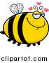 Cartoon Vector Clip Art of a Chubby Bee in Love by Cory Thoman