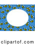 Vector Clip Art of a Buzzing Bee Frame with White Space by Prawny