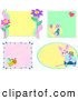 Vector Clip Art of a Digital Set of Animal, Insect and Flower Frames by Bpearth