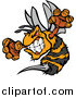 Vector Clip Art of a Stinging Aggressive Bee Mascot by Chromaco